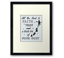 Disney Peter Pan - All You Need to Fly Framed Print