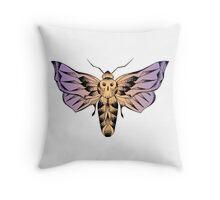 Moth with skull / Papillon de nuit et crâne Throw Pillow