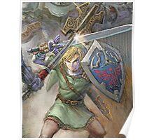 The Legend of Zelda - Link Battle Poster