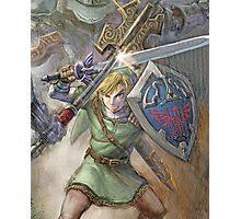 The Legend of Zelda - Link Battle Photographic Print