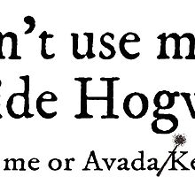 I can't use magic outside Hogwarts - white by TimonPower77