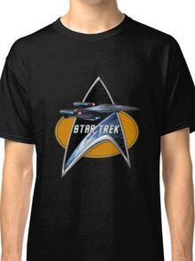 StarTrek Enterprise Galaxy Class Dreadnought  Command Signia Chest Classic T-Shirt