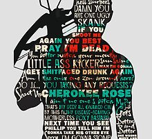 The Walking Dead - Daryl Quotes Silhouette  by manupremoli