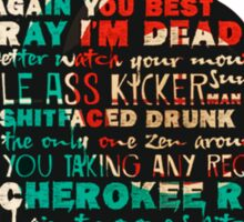 The Walking Dead - Daryl Quotes Silhouette  Sticker