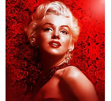 Marilyn Monroe roses Photographic Print
