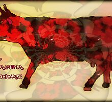 Cow... errr... flower power by JoAndCoCards