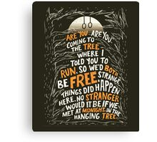Hunger Games - The Hanging Tree  Canvas Print
