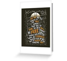 Hunger Games - The Hanging Tree  Greeting Card