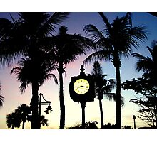 Sunset Times Square Fort Myers Beach, FL Photographic Print