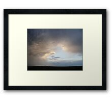 Storms Brewing Framed Print