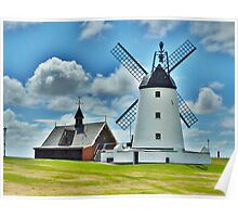 Lytham Windmill and Lifeboat Station . Poster