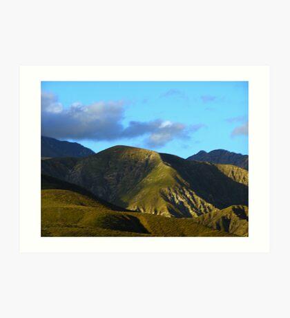 California Hills Highway Ten Art Print