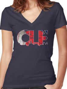 Cleveland, Ohio CLE Indians Shirts, Stickers, More Women's Fitted V-Neck T-Shirt
