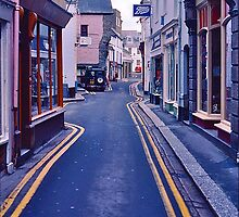 Fowey High Street by David Davies