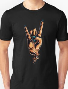 The Devils Horns hand gesture Unisex T-Shirt