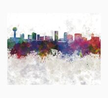 Knoxville skyline in watercolor background Kids Clothes