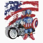 Cute Big Eye Boy with american superheroes gear by Dadang Lugu Mara Perdana