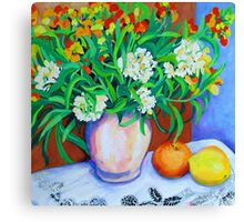 Citrus Still Life Canvas Print