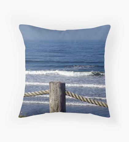 Morning on a Foggy Sea Throw Pillow