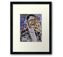 Rock-N-Roll Obama Framed Print
