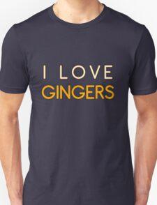 I LOVE GINGERS Unisex T-Shirt