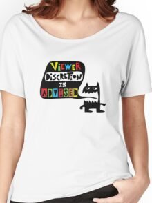Viewer Discretion is Advised - multi colored Women's Relaxed Fit T-Shirt