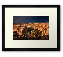 Storm coming at Ihlara valley - Cappadocia Framed Print