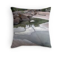 Lake Superior Shoreline - Marathon Ontario Throw Pillow
