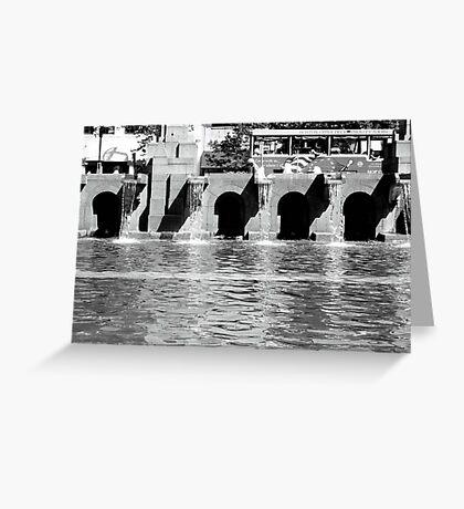 Fountain, Boston Greeting Card
