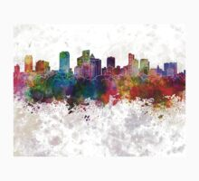 Fort Lauderdale FL skyline in watercolor background Kids Clothes