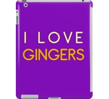 I LOVE GINGERS iPad Case/Skin