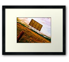 Former Drive-In Movie Theatre Framed Print