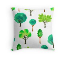 Trees eco Throw Pillow