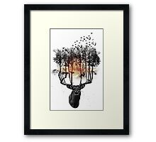 Ashes to ashes. Framed Print