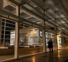 The Marvels of Rome - Admiring Ara Pacis at Night by Georgia Mizuleva