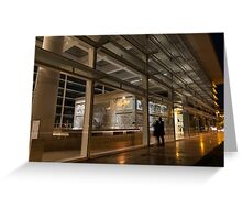 The Marvels of Rome - Admiring Ara Pacis at Night Greeting Card