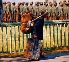 Kathmandu backpacker by Stuart Row