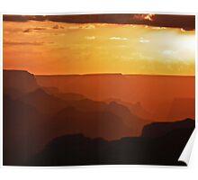 Desert View Sunset Poster
