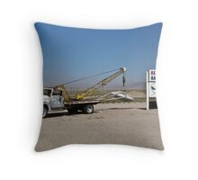 UFO on the hook Throw Pillow