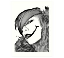 Smiles and Lies Art Print