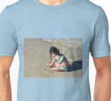 Girl  On Jamaican Beach/In A World Of Her Own Unisex T-Shirt