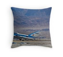 MiG 15 Trojan takes off Throw Pillow