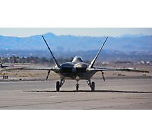 F-22 Raptor taxiing Photographic Print