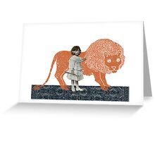 Pet Lion Greeting Card
