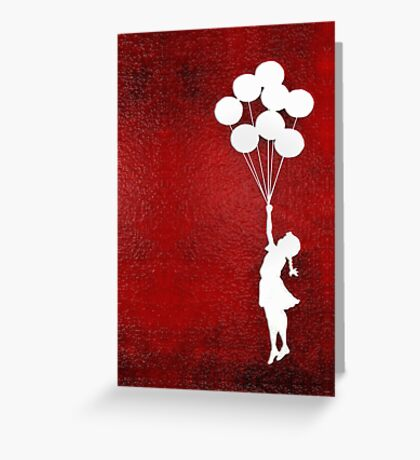 The Balloons Girls Greeting Card