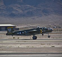 B-25 Mitchell landing  by Henry Plumley