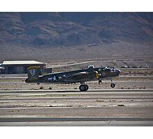 B-25 Mitchell landing  Photographic Print