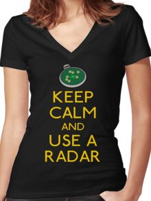 Keep use a radar Women's Fitted V-Neck T-Shirt
