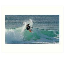 Surfing The Lake - Culburra Beach Art Print