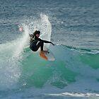 Surfing The Lake - Culburra Beach by Noel Elliot